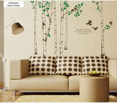 Peaceful Poplar Forest Wall Decal