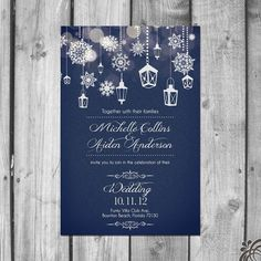 Beautiful Winter Wedding Invitation Set