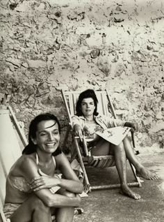 Jackie and Lee on vacation in Ravello, Italy. August, 1962