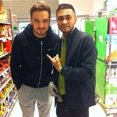 Liam in London today! he looks so big and buff and oh my gosh