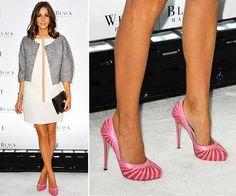 Lindo sapato rosa da Olivia Palermo (também linda!)