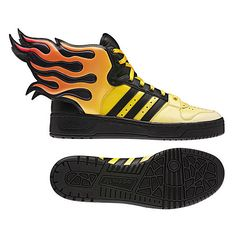 quality design 915f6 0ceaa adidas Originals by Originals Jeremy Scott JS Wings 2.0 Flames... ❤ liked on