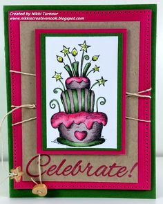 Nikki's Creative Nook, FSJ, Fun Stampers Journey, Happy Birthday, celebrate
