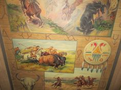 Vintage painting original signed  american  pulp  oil 0n canvas for sale tmmassari@aol.com #art