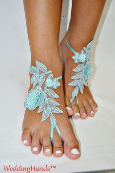 Frauen Yoga Barefoots Footless Braut Fußkettchen von WeddingHands