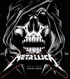 Rock Posters, Band Posters, Concert Posters, Kirk Metallica, Metallica Concert, Rock Bands, Metal Bands, Woodstock, Musica Metal