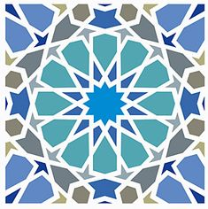 Islamic Motifs, Islamic Tiles, Islamic Patterns, Islamic Art, Morrocan Patterns, Moroccan Colors, Tile Patterns, Stencil Decor, Stencil Designs