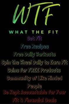 Amazing #FREE community of support, recipes, workouts, and chances to win products!! #itworks #wtf