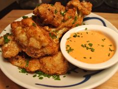 Fried cauliflower with Sriracha dipping sauce? Yes please!