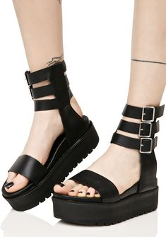 Shellys London Kegan Platform Sandals #goth