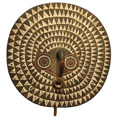African Mask. Mid Century African Mask. 33.5″ wide x 11″deep x 35″ high