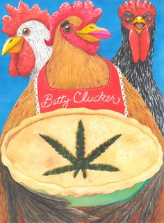 Chicken's Pot Pie. Notecard by CatherineGMcelroy on Etsy, $3.00