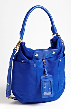 MARC BY MARC JACOBS 'Preppy Nylon' Hobo available at #Nordstrom METEORITE BLUE