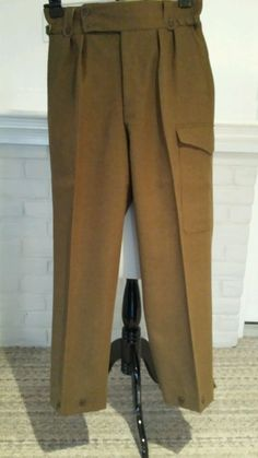 Vintage Whipcord Wool Hunting Field Military Pants 1952 Button Fly Heavy in  Clothing e5d07d15ff0