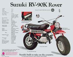 original RV brochure - 1973 my first motorbike Suzuki Bikes, Suzuki Cafe Racer, Suzuki Motorcycle, Motorcycle Style, Motorcycle Tips, Classic Motorcycle, Custom Mini Bike, Custom Bikes, Cool Motorcycles