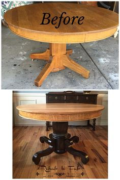 @generalfinishes Lamp Black milk paint as a wash on the base & Arm-R-Seal. Top was sanded, 2 coats of 50/50 Shellac/D-Natured Alcohol for a hint of color. Then several coats of Arm-R-Seal for top notch durability. Done by Rehab to Fab. #RehabtoFab