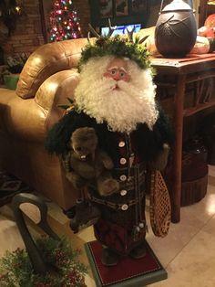 Rustic woodland Santa by Ruth Clotfelter Camenisch