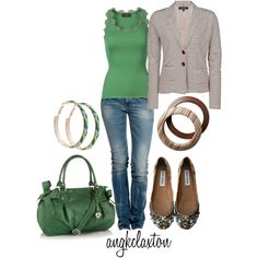 Brown and Green by angkclaxton on Polyvore