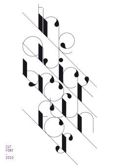 This piece is just interesting because it's grid lines are slanting and the type is consistent throughout the piece but not throughout the letters.