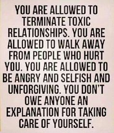 You don't need permission to take care of yourself. Listen to your gut & do what's right for YOU.