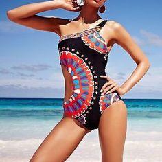 Trina Turk Black 'Yukateca' Monokini Swimsuit Brand new. Store display. Hygienic liner still attached. Has been stored so shows wrinkling. Trina Turk Swim One Pieces