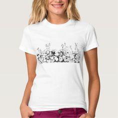 Garden Flowers, graphic art, floral design Tee Shirt by ClipsoCallipso  #monochrome, #lifesketch, #flowers, #minimalistic, #naturelovers, #design, #plants, #ink, #flower, #inkpen, #drawing, #line, #hosta,  #hostas, #leaves, #foliage, #botanical, #botanica, #ease, #simple, #simplicity, #natural, #graphic, #graphical, #graphica, #illustration, #floral,