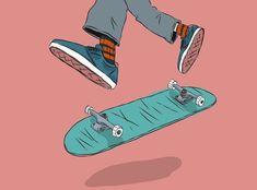 Learn to draw Aesthetic Art, Aesthetic Anime, Art Patin, Spitfire Skate, Skate Girl, Skateboard Art, Skateboard Tattoo, Skate Tattoo, Electric Skateboard