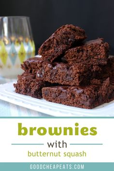 Bake someone happy with these delicious, cake-like Butternut Squash Brownies. They freeze beautifully and are perfect with a glass of milk. Sweet Butternut Squash Recipe, Homemade Chocolate, Chocolate Desserts, Easy Desserts, Dessert Recipes, No Bake Brownies, Good And Cheap, Pumpkin Puree, Brownie Recipes