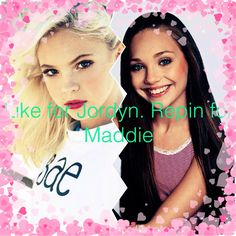 Edits made by me, Amaniglamours ♡. Who will win. Like for Jordyn Jones. Repin for Maddie Ziegler!