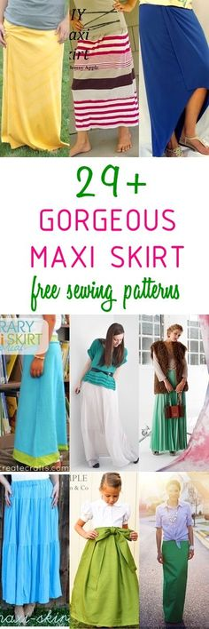 maxi skirt pattern sewing for women skirt tutorial how to sew a skirt Sewing Paterns, Skirt Patterns Sewing, Sewing Patterns Free, Free Sewing, Sewing Tutorials, Clothing Patterns, Pattern Sewing, Skirt Sewing, Sewing Projects