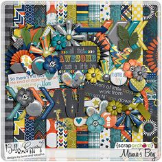 Digital Scrapbook Kit - Mama's Boy by Bella Gypsy