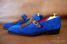 The Bellini suede loafer by Antonio De Torres. Classico RTW collection built on our 101E last.  Goodyear Welted and suede by Stead.