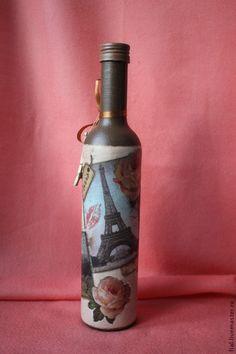 """Париж"" бутылка - Фиал (Fial) - Ярмарка Мастеров http://www.livemaster.ru/item/8129419-posuda-parizh-butylka"