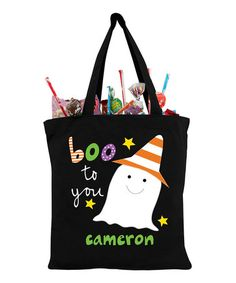 Another great find on #zulily! Goofy Ghost Personalized Treat Bag #zulilyfinds