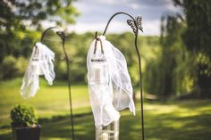 haki z lampami / hooks with lamps #wedding #decoration #lantern #rustic #light #candle #garden