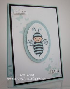 Stampin' Up! - Baby Bumblebee With Perpetual Birthday Calendar ....  Teri Pocock - http://teriscraftspot.blogspot.co.uk/2015/03/baby-bumblebee-with-perpetual-birthday.html