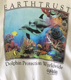 Vintage Tees, 1990s, Dolphins, Vintage T Shirts, Common Dolphin, Seal