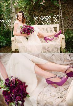 purple wedding shoes :)