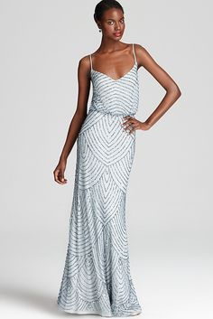 99f0dc367b15 10 Amazing Wedding Dresses Under  500!-- Adrianna Papell Beaded Gown  Available at Bloomingdales