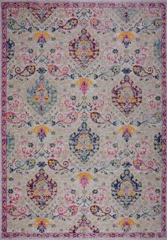 Set a traditional foundation for your stylish space – inside or outdoors – with this oriental area rug, showcasing an Persian motif in shades of blue, lilac pink and hints of yellow. Persian Motifs, Patio Dining, Dining Table, Dream House Plans, Indoor Outdoor Area Rugs, Soft Colors, Vintage Looks, Rugs On Carpet, Color Splash