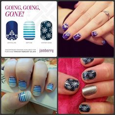 """These snow flakes are PERFECT to wear all winter long! They'll be gone on March 1, so better stock up for next year's """"snowpocalypse""""! http://helpinghands.jamberrynails.net"""