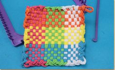 Learn the basic techniques to weave and create a crocheted edge for pot holders using the Made by Me™ Weaving Loom.