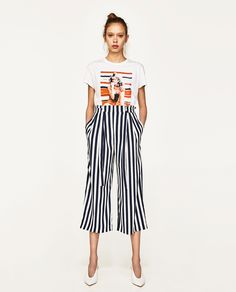 We Can t Get Enough Candy Stripes This Summer -  36 Zara Black And White 469800de78c