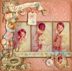 Little Darling - Scrapbook.com ...created by Jill ( 13-Mar-12 ) Graphic 45 Card's and Layout's.