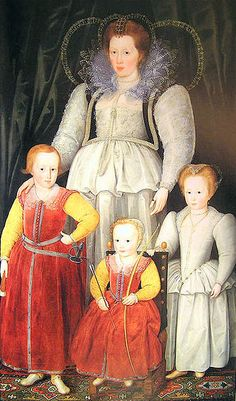 Anne, Lady Pope, With Her Children, Marcus Gheeraerts