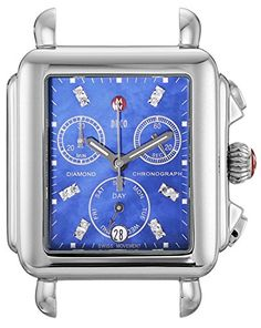 MICHELE Women's MW06P00A0956 Deco Analog Display Swiss Quartz Silver Watch Head -- Read more  at the image link.