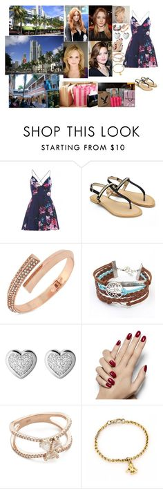 """""""Going shopping in South Beach and Downtown Miami with Tess, Alexandra, Ailie, and Rose"""" by chineye-aworh ❤ liked on Polyvore featuring AX Paris, Disney, BCBGeneration, Links of London, Luna Skye and Pomellato"""