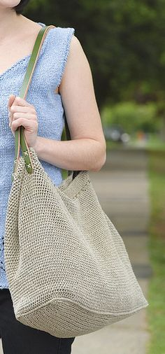 Ravelry: Crocheted Linen Market Bag pattern by Sharlene Boyce...