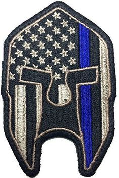 Patch Squad Men's Thin Blue Line American Spartan Patch
