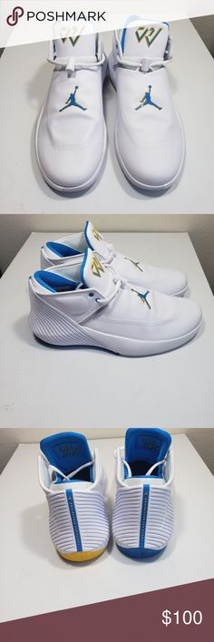 8722f92b4a7a Shop Men s Jordan White Blue size Athletic Shoes at a discounted price at  Poshmark. Description  Jordan Why Not Zero UCLA Bruins Russell Westbrook Shoes  Sz ...